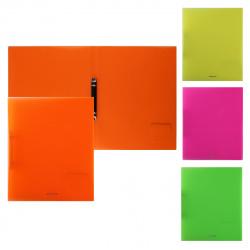 Папка с 2 кольцами 24мм d-16мм 0,5мм Erich Krause Diagonal Neon 47137 ассорти