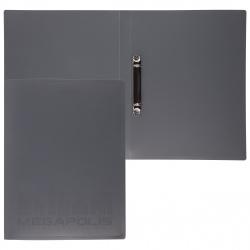 Папка с 2 кольцами 35мм d-25мм 0,8мм Erich Krause Megapolis 46006 черн