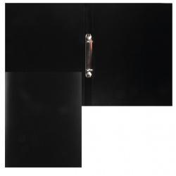 Папка с 2 кольцами 25мм d-20мм 0,5мм KLERK 190949 черн
