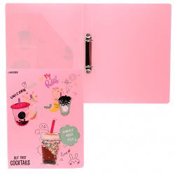 Папка на кольцах А4, пластик, ширина корешка 30мм, розовый Unicorn Cocktail deVENTE 3081105