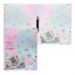 Папка на кольцах А4, пластик, ширина корешка 30мм, рисунок Dream Kitten deVENTE 3081101