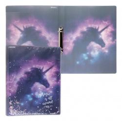 Папка на кольцах А4, пластик, ширина корешка 30мм, рисунок Magic Unicorn deVENTE 3081100