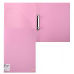 Папка на кольцах А4, пластик, ширина корешка 25мм, розовый Pastel deVENTE 3081802