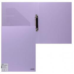 Папка с 2 кольцами с карм 35мм d-25мм deVENTE Pastel 3081803 сиреневый
