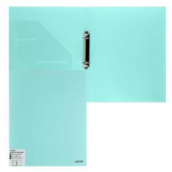 Папка с 2 кольцами с карм 35мм d-25мм 0,6мм deVENTE Pastel 3081801 бирюзовая