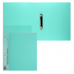 Папка с 2 кольцами с карм 40мм d-30мм 0,7мм торц карм Premium NEWtone Pastel 24АВ4_05039 мята
