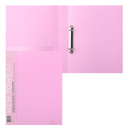 Папка с 2 кольцами с карм 40мм d-30мм 0,7мм торц карм Premium NEWtone Pastel 24АВ4_05018 пион