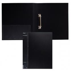 Папка на кольцах А4, пластик, ширина корешка 40мм, черный Standart Hatber 24AB4_00101