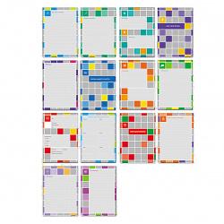 Портфолио для ученика, А4, бумага мелованная, 16 вкладышей Яркая графика Hatber 16Пу4_14177