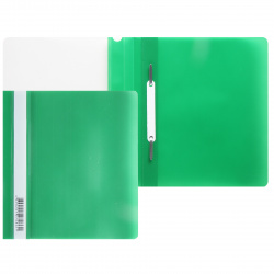 Папка-скоросшиватель пласт А5 0,14/0,18мм PSL20a5GRN/346250 зел