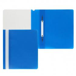 Папка-скоросшиватель с прозрачным верхним листом А5, пластик, сменная этикетка, цвет синий KLERK 211901