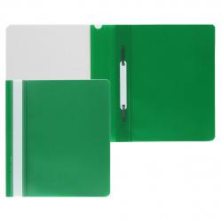 Папка-скоросшиватель с прозрачным верхним листом А5, пластик, сменная этикетка, цвет зеленый KLERK 211902