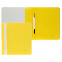 Папка-скоросшиватель с прозрачным верхним листом А5, пластик, сменная этикетка, цвет желтый KLERK 211904