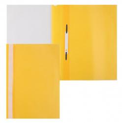 Папка-скоросшиватель пласт А4 0,1/0,12мм ASp_04605 желтая
