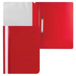 Папка-скоросшиватель пласт А4 0,1/0,12мм ASp_04603 красная