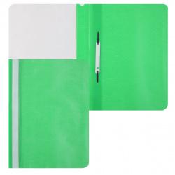 Папка-скоросшиватель пласт А4 0,1/0,12мм ASp_04604 зел
