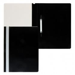 Папка-скоросшиватель с прозрачным верхним листом А4, пластик, сменная этикетка, цвет черный KLERK 211911