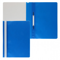 Папка-скоросшиватель с прозрачным верхним листом А4, пластик, сменная этикетка, цвет синий KLERK 211905