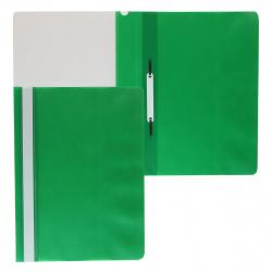Папка-скоросшиватель с прозрачным верхним листом А4, пластик, сменная этикетка, цвет зеленый KLERK 211907