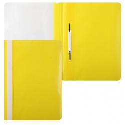 Папка-скоросшиватель с прозрачным верхним листом А4, пластик, сменная этикетка, цвет желтый KLERK 211908