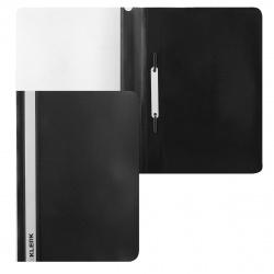 Папка-скоросшиватель с прозрачным верхним листом А4, пластик, сменная этикетка, цвет черный KLERK 211918