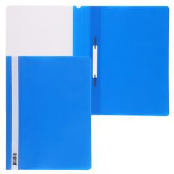 Папка-скоросшиватель с прозрачным верхним листом А4, пластик, сменная этикетка, цвет синий KLERK 211912