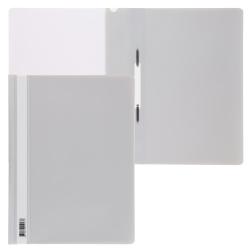 Папка-скоросшиватель с прозрачным верхним листом А4, пластик, сменная этикетка, цвет серый KLERK 211917