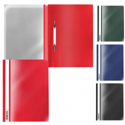 Папка-скоросшиватель пласт А4 0,14мм Erich Krause Fizzy Classic 50020 ассорти 4 вида