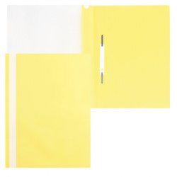 Папка-скоросшиватель пласт А4 0,16мм Asp_04305 желт