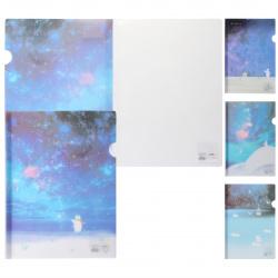 Папка-скоросшиватель на клипе пласт А4 0,18мм КОКОС BAI LING NIAO Bear 209162 ассорти 4 вида