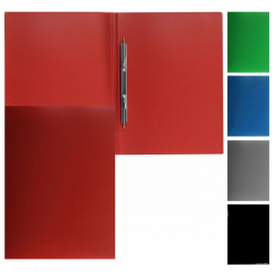 Папка-скоросшиватель пласт/метал 0,50мм 20мм PZ05P 816839 ассорти
