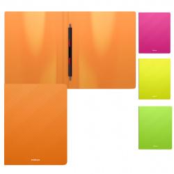 Папка-скоросшиватель пласт/метал 0,50мм 17мм Erich Krause Diagonal Neon 47174 ассорти