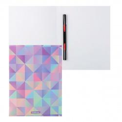 Папка-скоросшиватель пласт/метал 0,55мм 17мм Erich Krause Magical Rhombs 49373