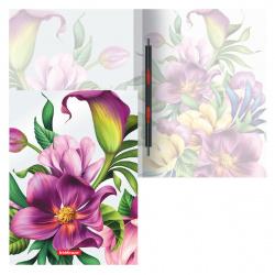 Папка-скоросшиватель пласт/метал 0,55мм 17мм Erich Krause Tropical Flowers 49368