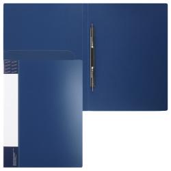 Папка-скоросшиватель пласт/метал с карм 0,70мм 16мм торц карм KLERK 190940 син