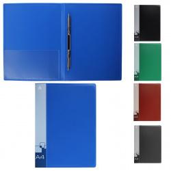 Папка-скоросшиватель А4, пластик, ширина корешка 16мм, ассорти Бюрократ 4607034790189