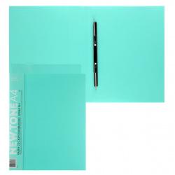 Папка-скоросшиватель пласт/метал с карм 0,70мм 17мм торц карм Hatber NEWtone Pastel AH4_05039 мята