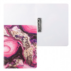 Папка с зажимом А4, пластик, 1 зажим, цвет рисунок Marble Amethyst Erich Krause 52768