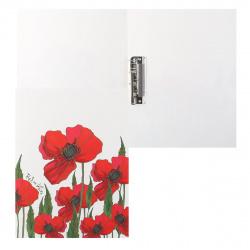 Папка с зажимом 0,70мм 14мм Hatber Red on White AC4_11104