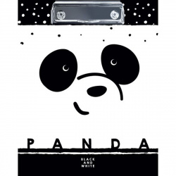 Планшет с зажимом А5 (175*220) ламин Hatber Panda Пп5л_22114