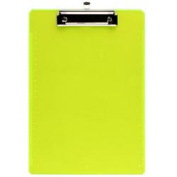 Планшет с зажимом А4 пластик 2мм deVENTE Monochrome 3034005 полупр линейка по краю неоновый желтый