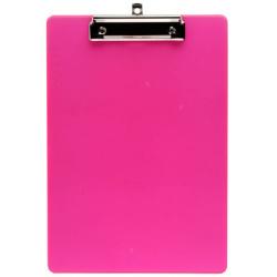 Планшет с зажимом А4 пластик 2мм deVENTE Monochrome 3034004 полупр линейка по краю неоновый розовый