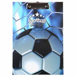 Планшет с зажимом А4, ламинированный картон, цвет рисунок Football deVENTE 3034911