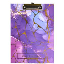 Планшет с зажимом А4, ламинированный картон, цвет рисунок Violet Marble Violet deVENTE 3034907