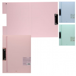 Папка-планшет с зажимом А4 пластик с резинкой 0.75мм Deli Macaron EB30402
