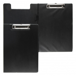 Папка-планшет с зажимом А4 пластик 2,5мм deVENTE 3034048 черн