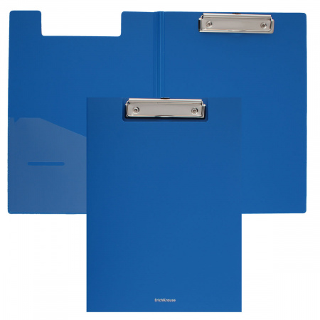 <b>Папка</b>-планшет с зажимом пластик <b>ErichKrause Classic</b> 45982 син