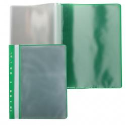 Папка 10 файлов, А4, пластик, цвет зеленый KLERK 212882