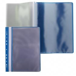 Папка 10 файлов, А4, пластик, цвет синий KLERK 212880