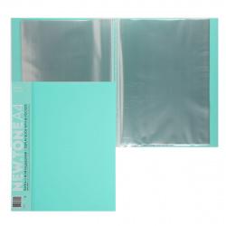 Папка 40 файлов 0,60мм 20мм торц карм Hatber Premium NEWtone Pastel 40AV4_05039 мята